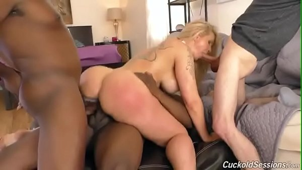 Interracial Anal Gangbang With Ryan Conner and a CUCKOLD